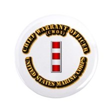 "USMC - CW4 3.5"" Button (100 pack)"
