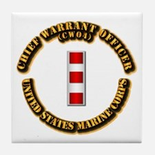 USMC - CW4 Tile Coaster