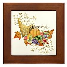 Harvest Thanksgiving Fall Cornucopia S Framed Tile