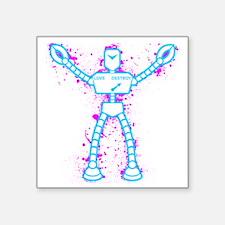 "robot-2 Square Sticker 3"" x 3"""