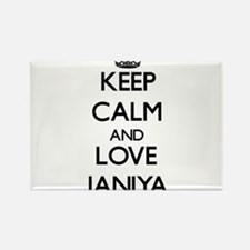 Keep Calm and Love Janiya Magnets