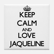 Keep Calm and Love Jaqueline Tile Coaster