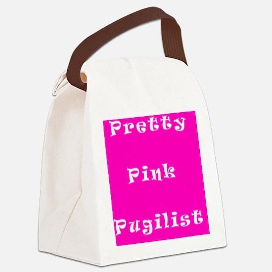 Pretty Pink Pugilist Breast Cance Canvas Lunch Bag