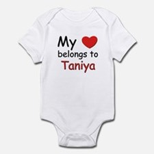 My heart belongs to taniya Infant Bodysuit