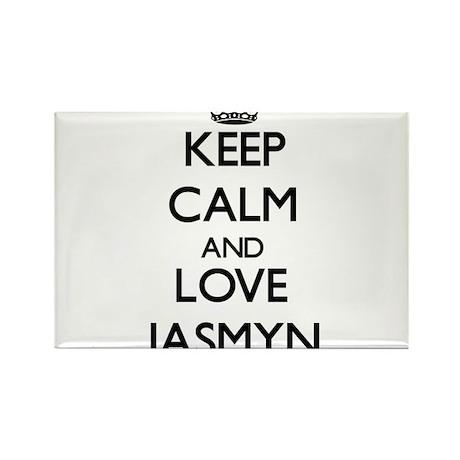 Keep Calm and Love Jasmyn Magnets