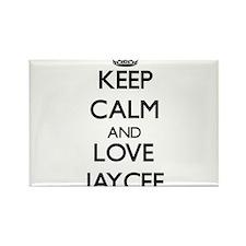 Keep Calm and Love Jaycee Magnets