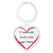 I make Milk Heart Keychain