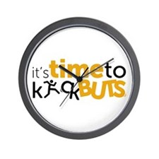 Time kick buts Wall Clock