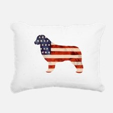 Newfoundland Dog USA Rectangular Canvas Pillow