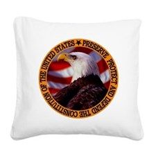 Protect And Defend Square Canvas Pillow