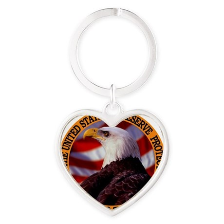 Protect And Defend Heart Keychain