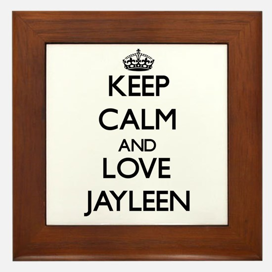 Keep Calm and Love Jayleen Framed Tile