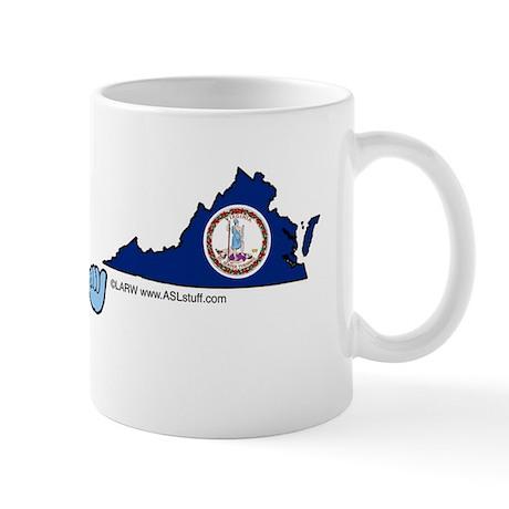 VAstateFlagILYbs Mug