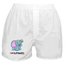 I Love Elephants Boxer Shorts