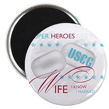SuperHeroesAreReal_USCGWife Magnet