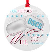 SuperHeroesAreReal_USCGWife Ornament