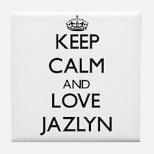 Keep Calm and Love Jazlyn Tile Coaster