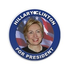Hillary Clinton for President Ornament (Round)
