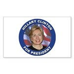 Hillary Clinton for President Sticker (Rectangular