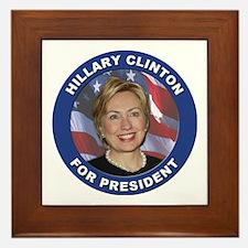 Hillary Clinton for President Framed Tile