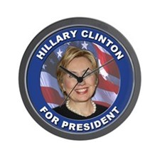 Hillary Clinton for President Wall Clock