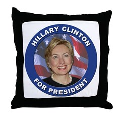 Hillary Clinton for President Throw Pillow