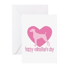 Weimaraner Valentine Greeting Cards (Pk of 10)