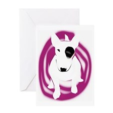 bully pink eye swirl Greeting Card