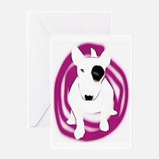 bully pink eye swirl Greeting Card