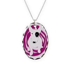 bully pink eye swirl Necklace