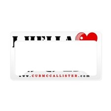 2-ihelllovecub License Plate Holder