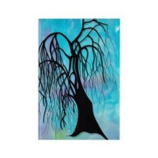 Treeoodle Willow Rectangle Magnet