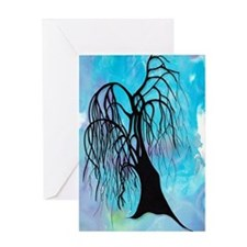 Treeoodle Willow Greeting Card