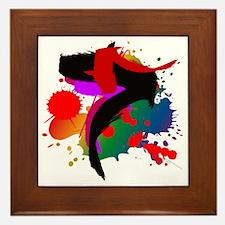 Colourful artistic designer t-shirts Framed Tile