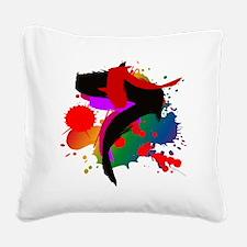 Colourful artistic designer t Square Canvas Pillow