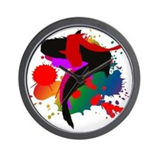 Colourful artistic designer t-shirts Wall Clock