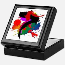 Colourful artistic designer t-shirts Keepsake Box