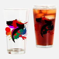 Colourful artistic designer t-shirt Drinking Glass