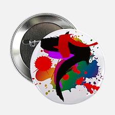 "Colourful artistic designer t-shirts 2.25"" Button"