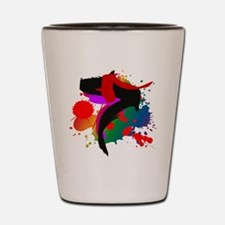 Colourful artistic designer t-shirts Shot Glass