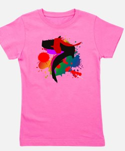 Colourful artistic designer t-shirts Girl's Tee