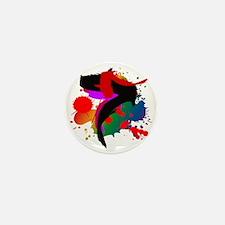 Colourful artistic designer t-shirts Mini Button