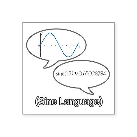 "sine-language-revised Square Sticker 3"" x 3"""
