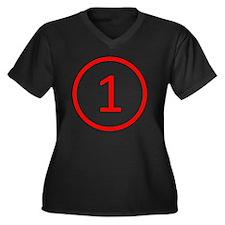 red1 Women's Plus Size Dark V-Neck T-Shirt