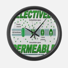 Selectively Permeable Large Wall Clock