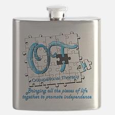 ot puzzle aqua Flask