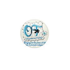 ot puzzle aqua Mini Button