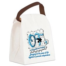 ot puzzle aqua Canvas Lunch Bag