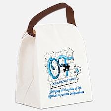 ot puzzle aqua Canvas Lunch Bag