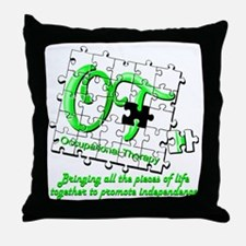 ot puzzlegreen Throw Pillow